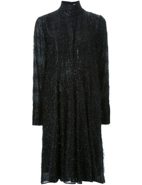 SCANLAN THEODORE | Женское Чёрное Платье С Отделкой Мишурой