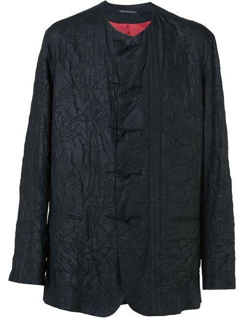 Yohji Yamamoto | Мужской Чёрный Пиджак С Эффектом Помятости
