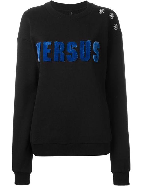 Versus | Женская Чёрная Толстовка С Логотипом
