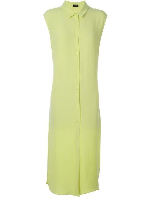 Joseph | Женское Зелёное Платье-Рубашка Без Рукавов