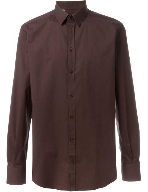 Dolce & Gabbana | Мужская Коричневая Классическая Рубашка