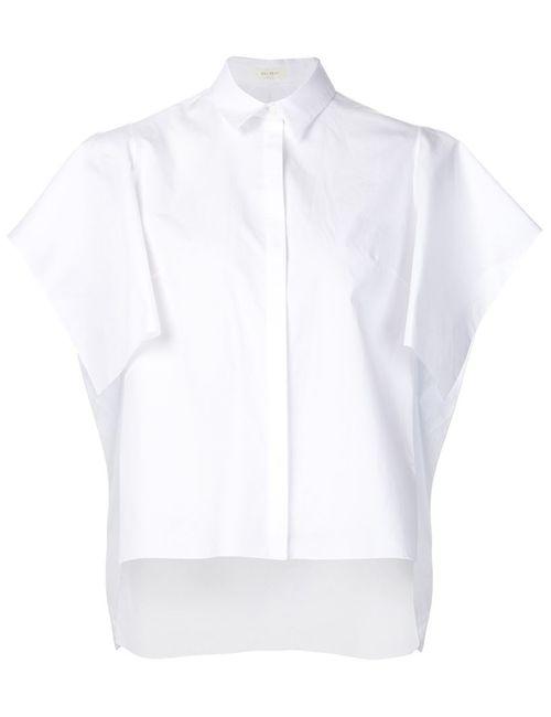 Delpozo | Женская Белая Рубашка С Рукавами-Кап
