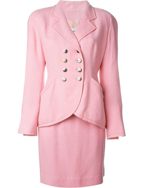 Christian Dior Vintage   Женский Розовый Юбочный Костюм