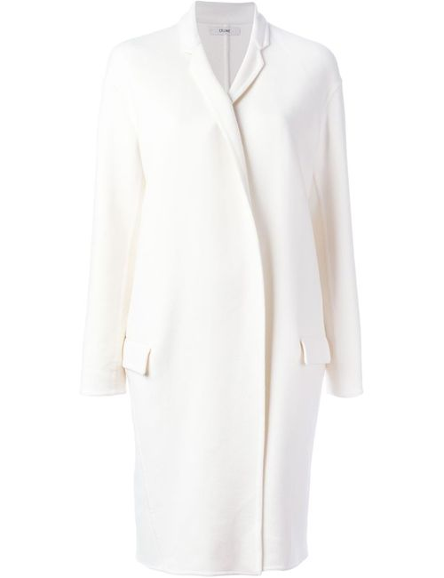 Céline | Женское Белый Single Breasted Coat
