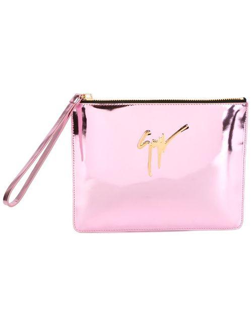 Giuseppe Zanotti Design | Женский Розовый Клатч С Металлическим Логотипом