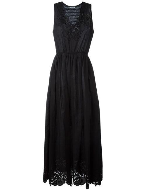 P.A.R.O.S.H. | Женское Черный Платье С Вышивкой