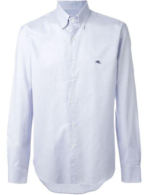 Etro | Мужская Синяя Рубашка С Мелким Узором