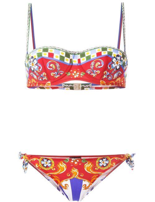 Dolce & Gabbana | Женское Carretto Siciliano Printed Bikini
