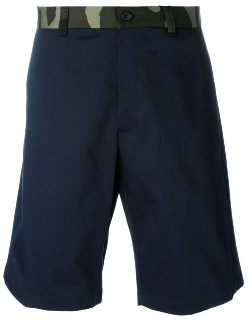Dior Homme | Мужское Синий Camouflage Waistband Shorts