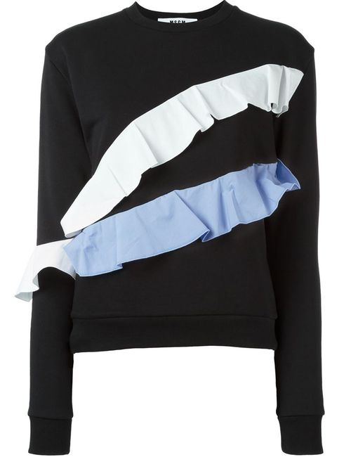 MSGM | Женское Черный Ruffle Sweatshirt