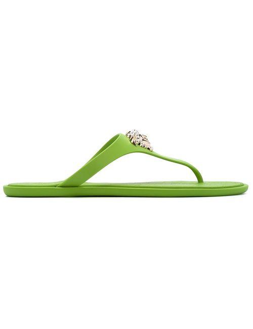 Versace | Женское Зелёный Medusa Flip Flops