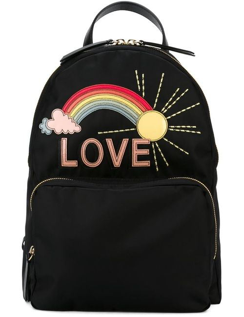 Red Valentino | Женское Чёрный Rainbow Appliqué Backpack
