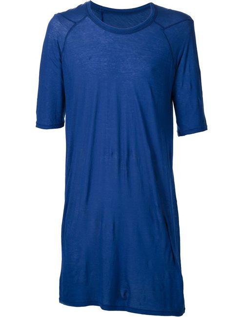 BORIS BIDJAN SABERI | Мужская Синяя Удлиненная Футболка