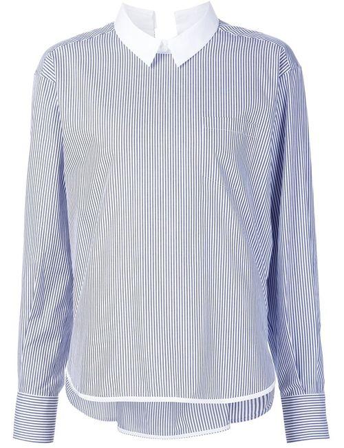 Sacai | Женская Синяя Полосатая Рубашка