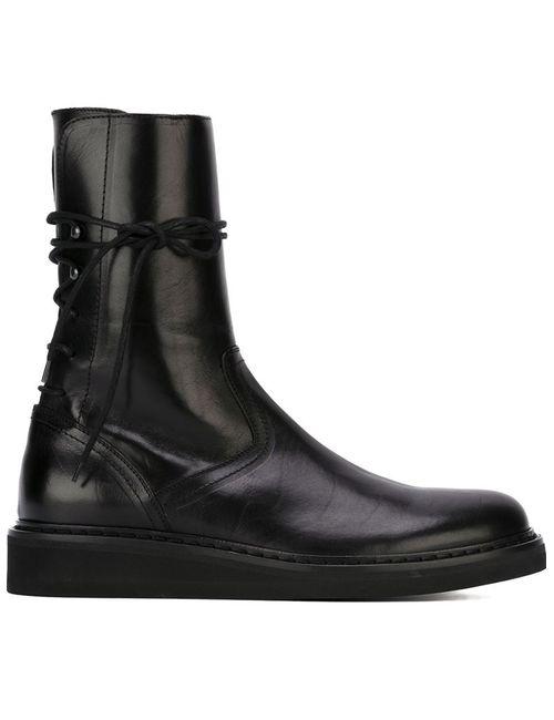 Ann Demeulemeester | Мужское Чёрный Lace-Up Boots
