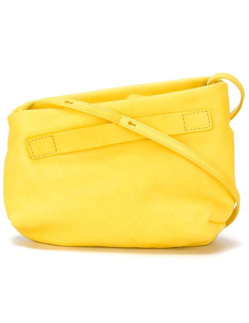 Marsell | Женская Жёлтая Асимметричная Сумка Через Плечо