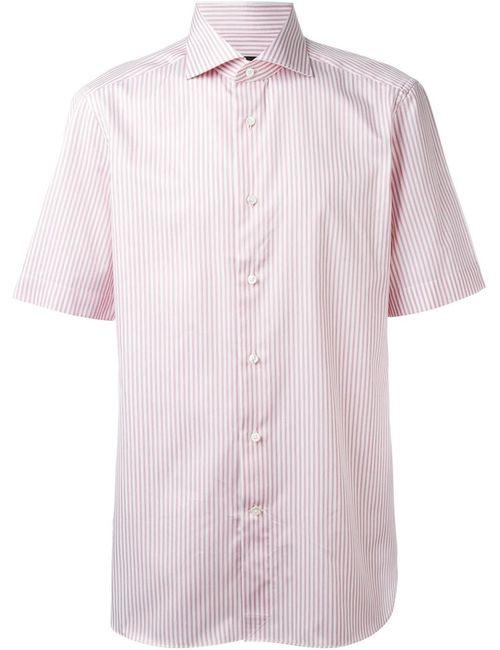 Ermenegildo Zegna | Мужская Белая Рубашка С Короткими Рукавами