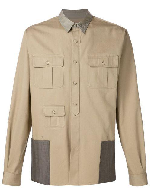 Valentino   Мужское Nude & Neutrals Flap Pocket Shirt