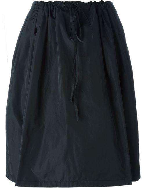 Jil Sander Navy   Женское Чёрный Drawstring Skirt