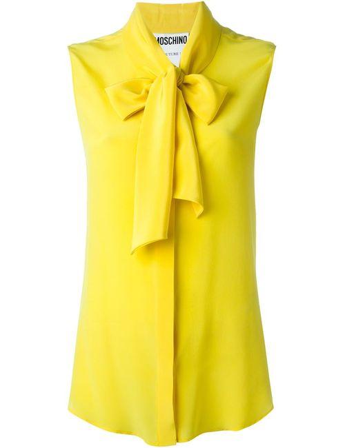 Moschino | Женский Жёлтый Топ С Бантом