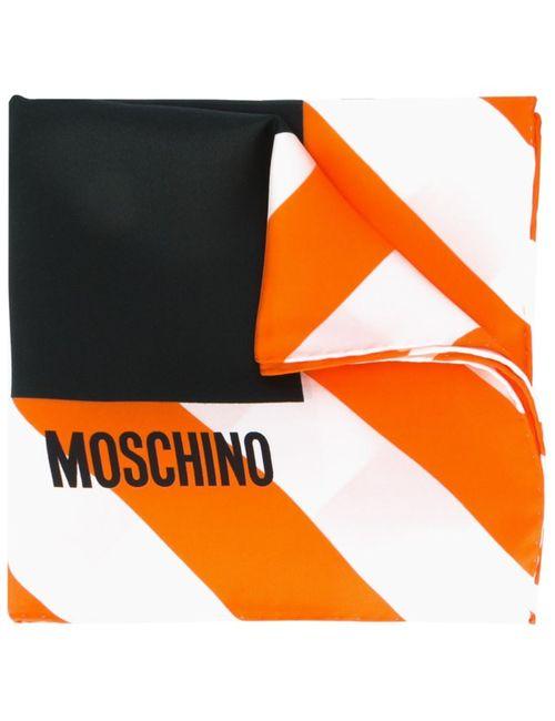 Moschino   Женский Чёрный Платок С Принтом Clothed For Repairs