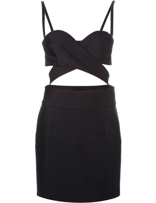 Fausto Puglisi | Женское Чёрное Платье С Вырезами