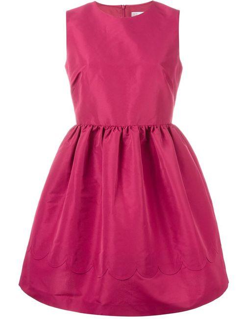 Red Valentino | Женское Розовое Расклешенное Платье Без Рукавов