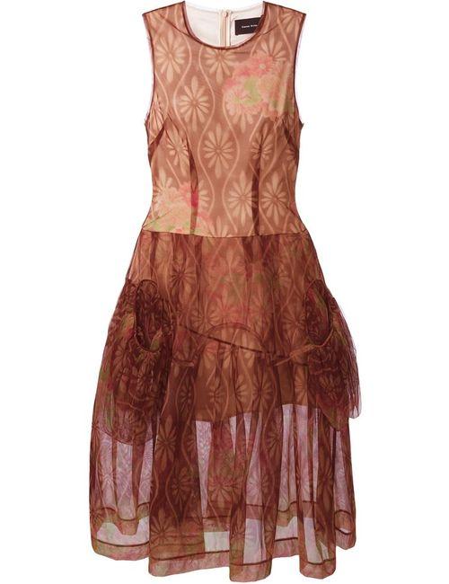 Simone Rocha | Женское Красное Платье С Цветочным Принтом