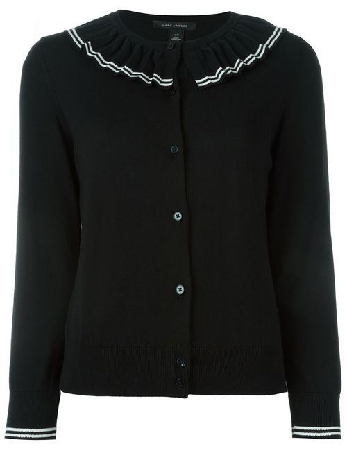 Marc Jacobs | Женское Чёрный Pleated Ribs Cardigan