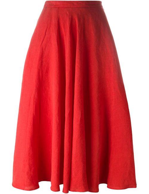 Tomas Maier | Женское Красный High Waist A-Line Skirt