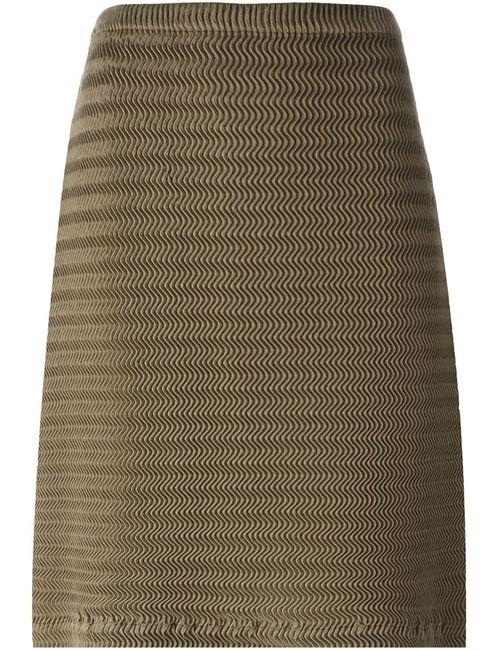 Issey Miyake | Женское Коричневый Wave Pleat A-Line Skirt