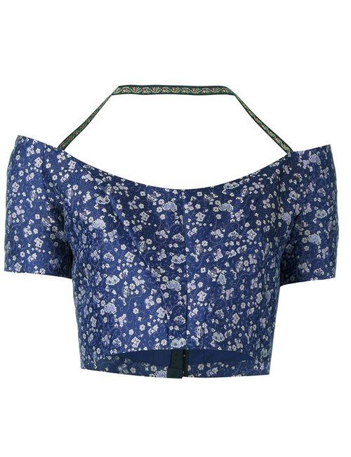 Etro | Женское Синий Brocade Crop Top