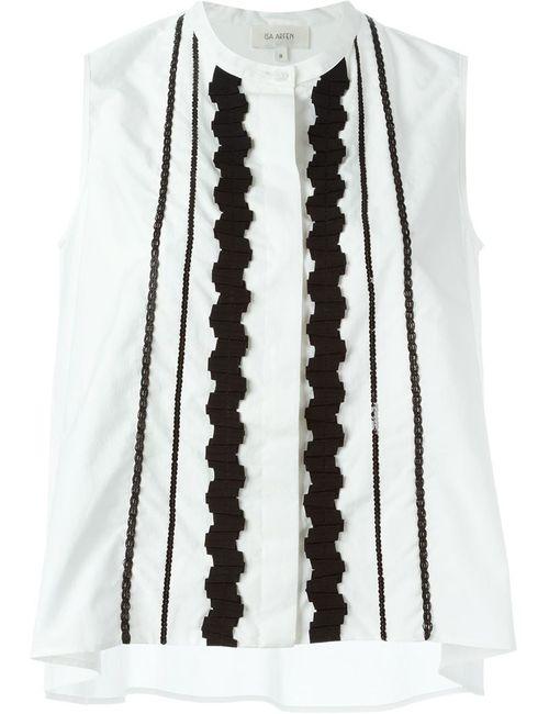 Isa Arfen   Женская Белая Рубашка Без Рукавов