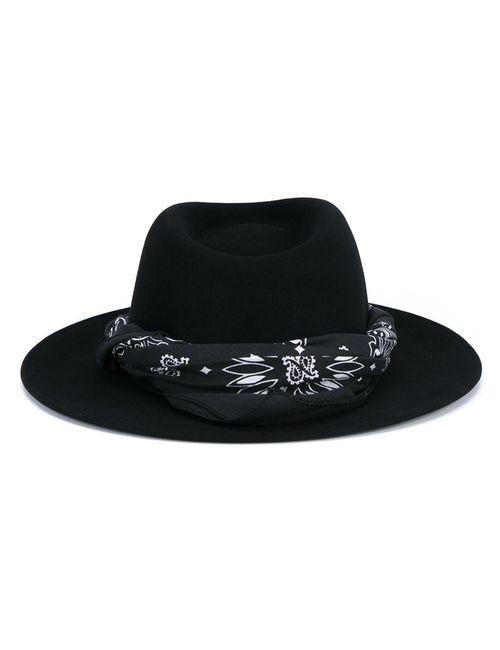 Maison Michel | Женская Чёрная Шляпа С Платком