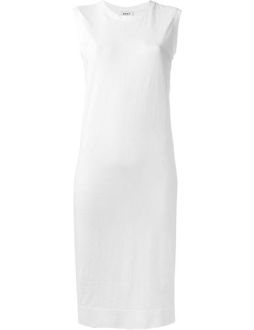 DKNY | Женское Белое Платье Без Рукавов