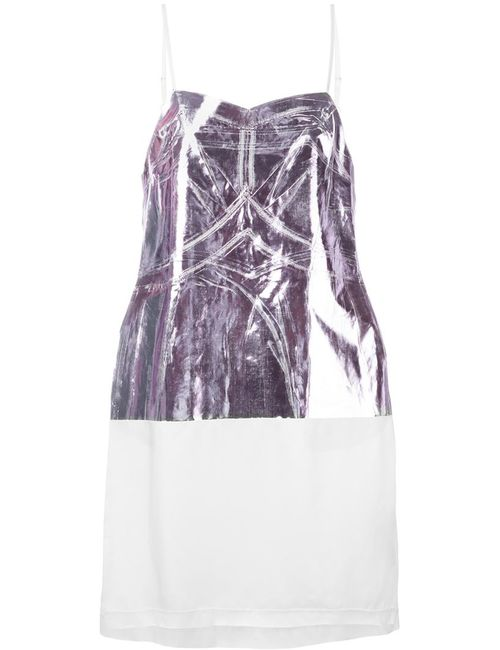 MM6 by Maison Margiela | Женское Белое Платье С Металлическим Отблеском