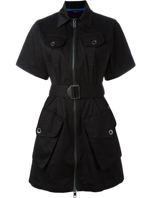 Diesel | Женское Чёрное Платье С Поясом