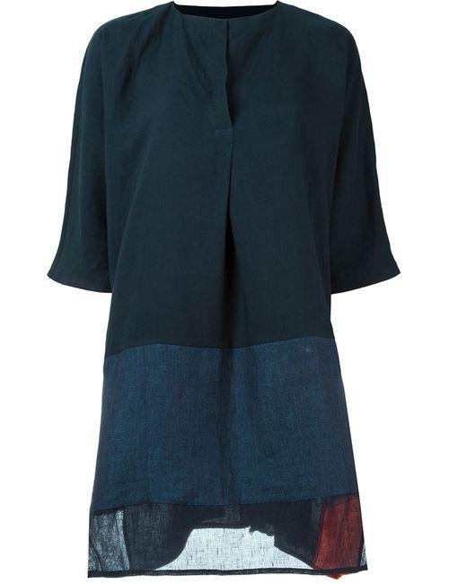 DANIELA GREGIS | Женское Синее Платье Шифт С Панельным Дизайном