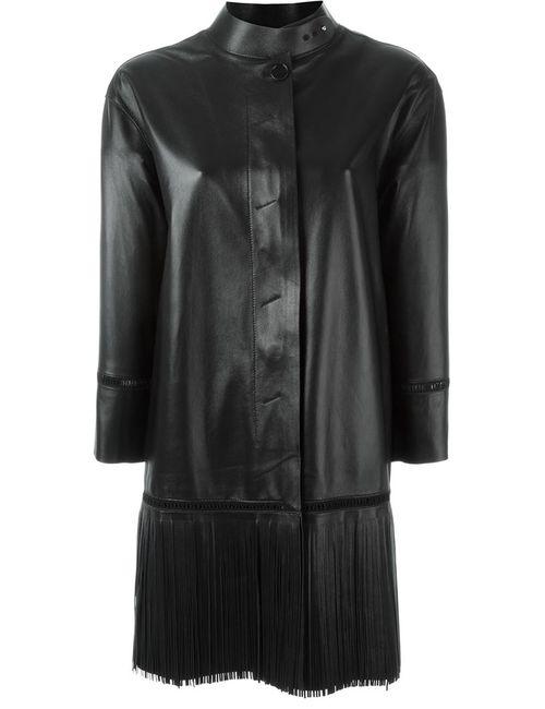 Ermanno Scervino | Женское Чёрное Пальто С Бахромой
