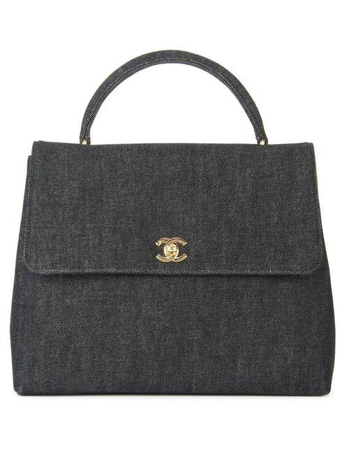 Chanel Vintage | Женская Черный Джинсовая Сумка-Тоут