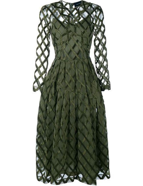 Simone Rocha | Женское Зелёный Rope Embroidered Long Sleeve Dress