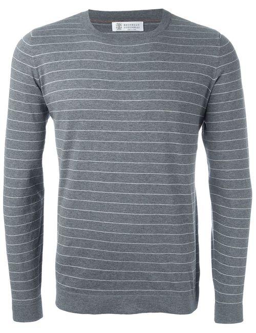 Brunello Cucinelli | Мужское Серый Striped Sweater