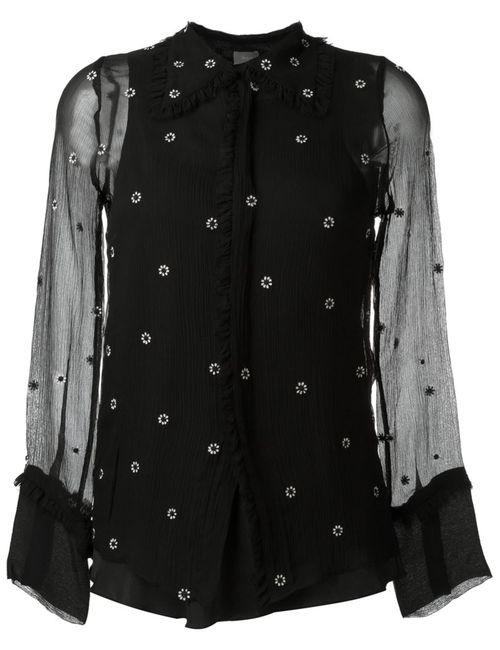 Jupe By Jackie | Женская Чёрная Рубашка С Вышивкой