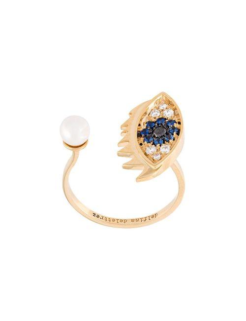 Delfina Delettrez | Женское Серебристый Eyes On Me Piercing Diamond And Sapphire