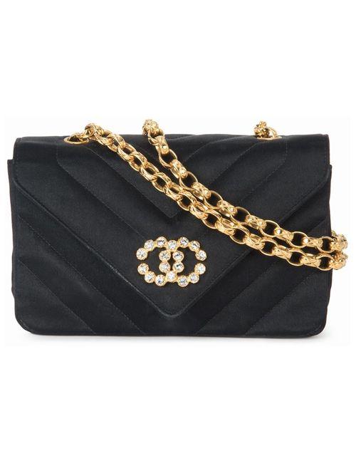 Chanel Vintage | Женская Черный Сумка На Плечо С Цепочной Отделкой
