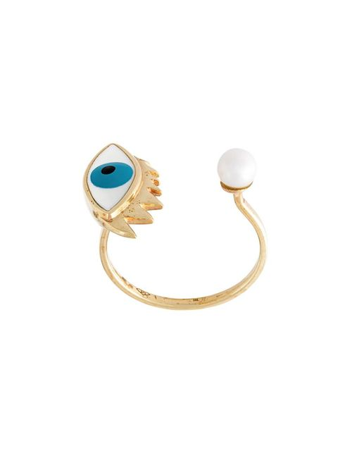 Delfina Delettrez | Женское Серебристый Eye Piercing Ring