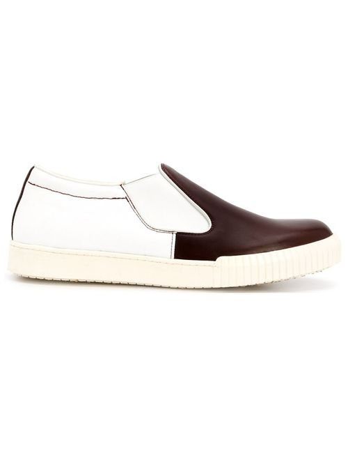Marni | Мужское Коричневый Canvas/Calf Slip-On Sneakers