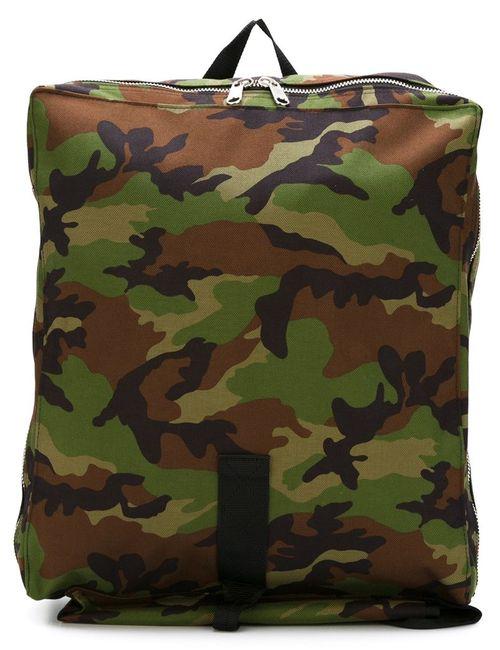 Comme Des Garcons   Женское Зелёный Camouflage Print Backpack