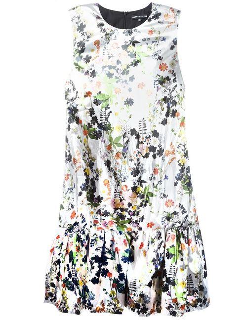 Markus Lupfer | Женское Серебристое Платье С Цветочным Принтом