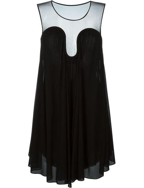 Jay Ahr | Женское Чёрное Расклешенное Платье
